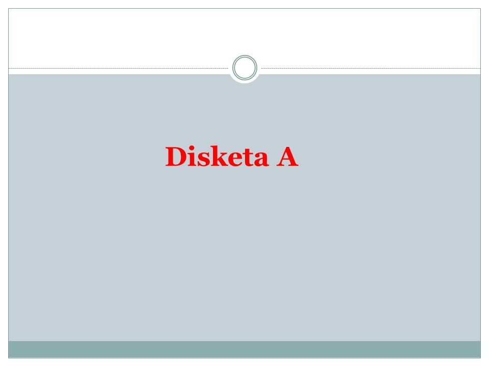 Disketa A