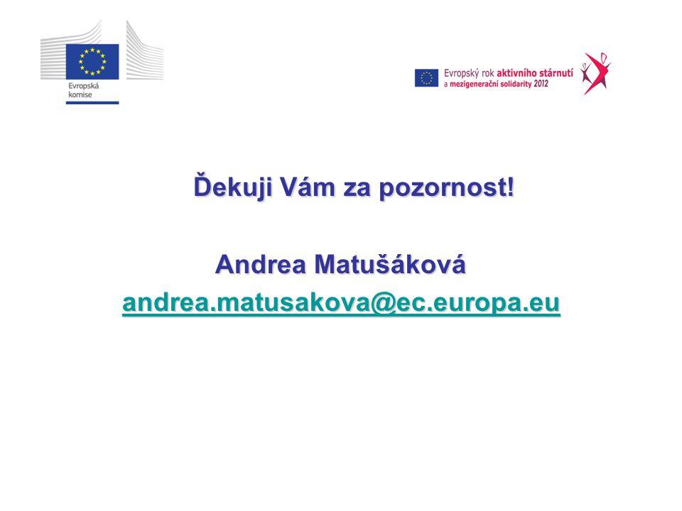 Ďekuji Vám za pozornost! Andrea Matušáková andrea.matusakova@ec.europa.eu