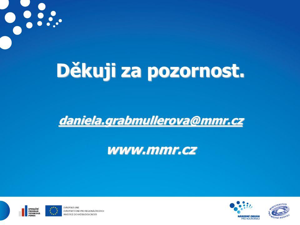 27 Děkuji za pozornost. daniela.grabmullerova@mmr.cz www.mmr.cz