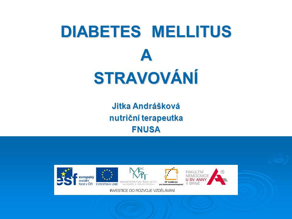 DIABETES MELLITUS ASTRAVOVÁNÍ Jitka Andrášková nutriční terapeutka FNUSA