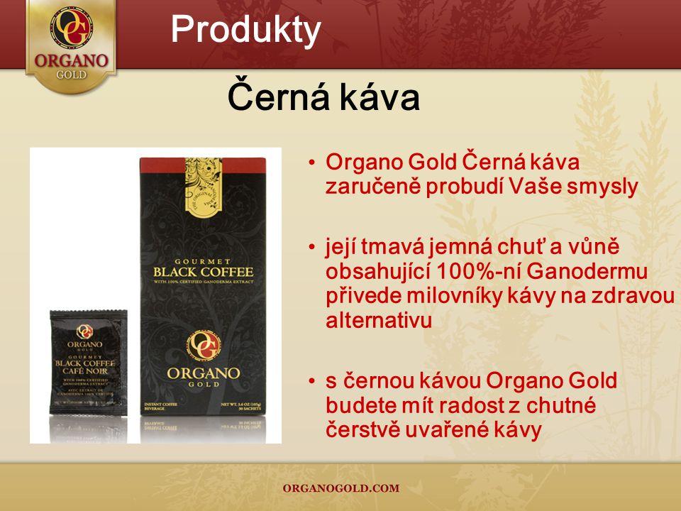 Produkty Černá káva Organo Gold Černá káva zaručeně probudí Vaše smysly její tmavá jemná chuť a vůně obsahující 100%-ní Ganodermu přivede milovníky kávy na zdravou alternativu s černou kávou Organo Gold budete mít radost z chutné čerstvě uvařené kávy