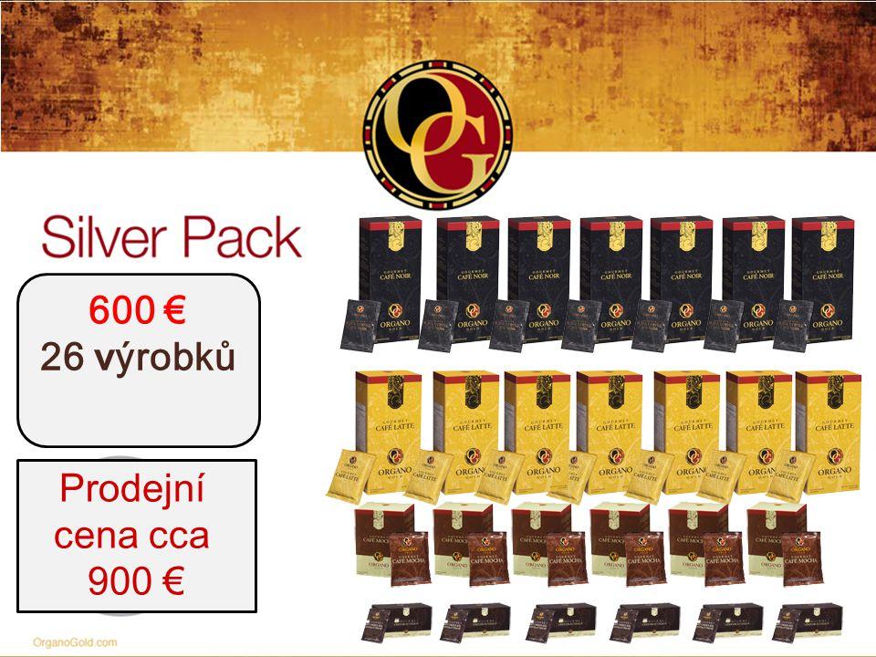 600 € 26 v ýrobků Prodejní cena cca 900 €