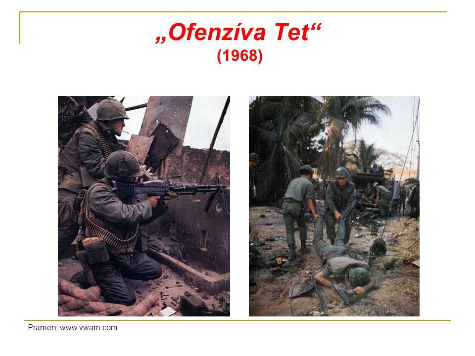 """""""Ofenzíva Tet (1968) Pramen: www.vwam.com"""