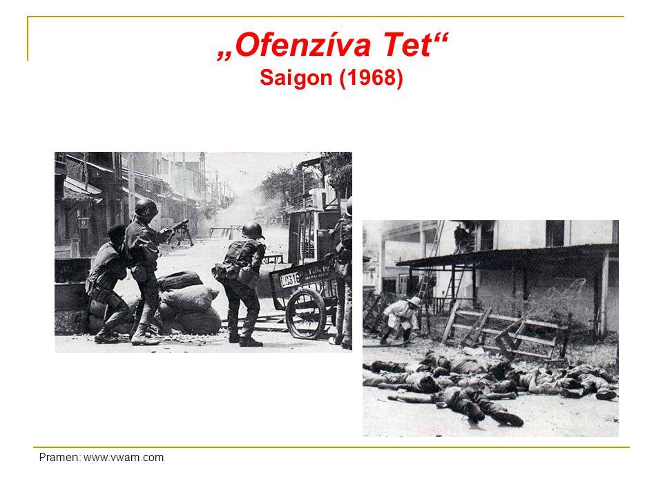 """""""Ofenzíva Tet Saigon (1968) Pramen: www.vwam.com"""