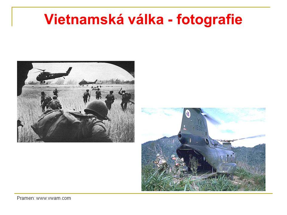 Vietnamská válka - fotografie Pramen: www.vwam.com