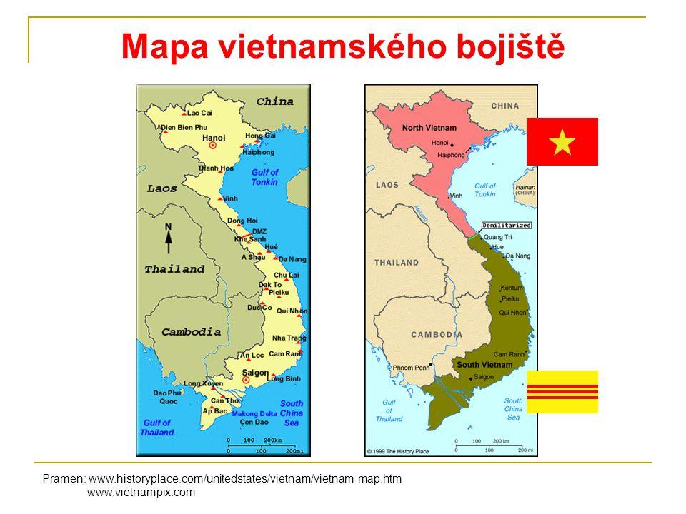 Vietnamská válka - fotografie Pramen: www.vietnampix.com www.wikipedia.org