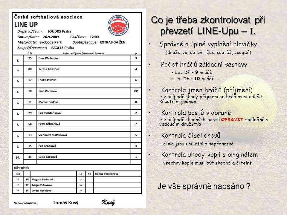 Line-up se nám poměrně zaplnil Jana Vacíková # 18 bude nastupovat do obrany za # 14 Aneta Rynešová na pozici 5.