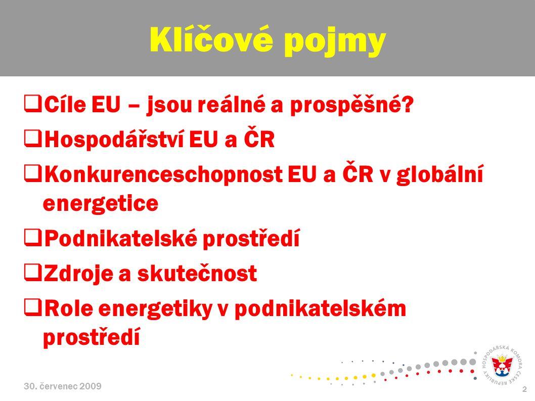 30. červenec 2009 2  Cíle EU – jsou reálné a prospěšné.