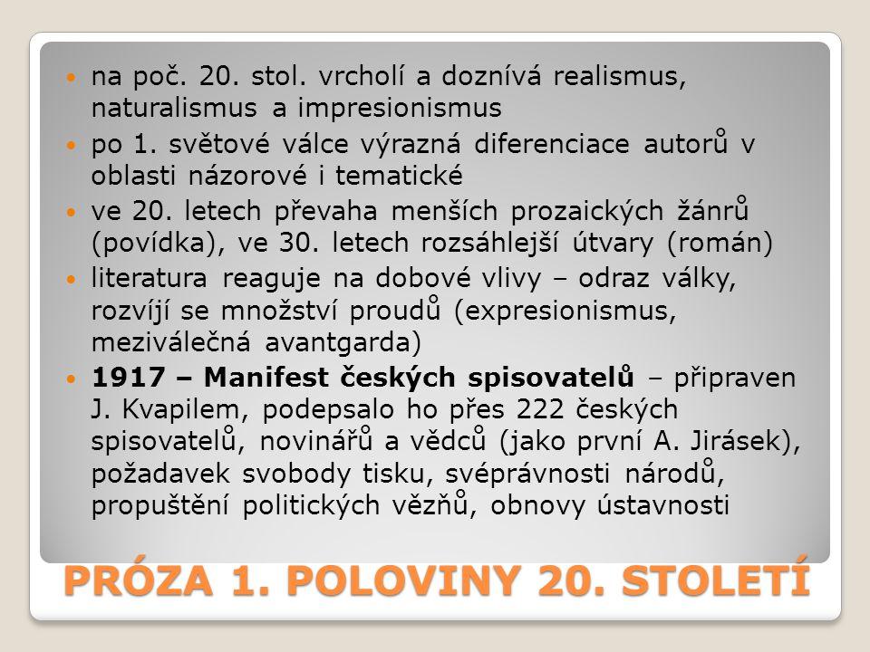 ZNAKY ČESKÉ PRÓZY 20.