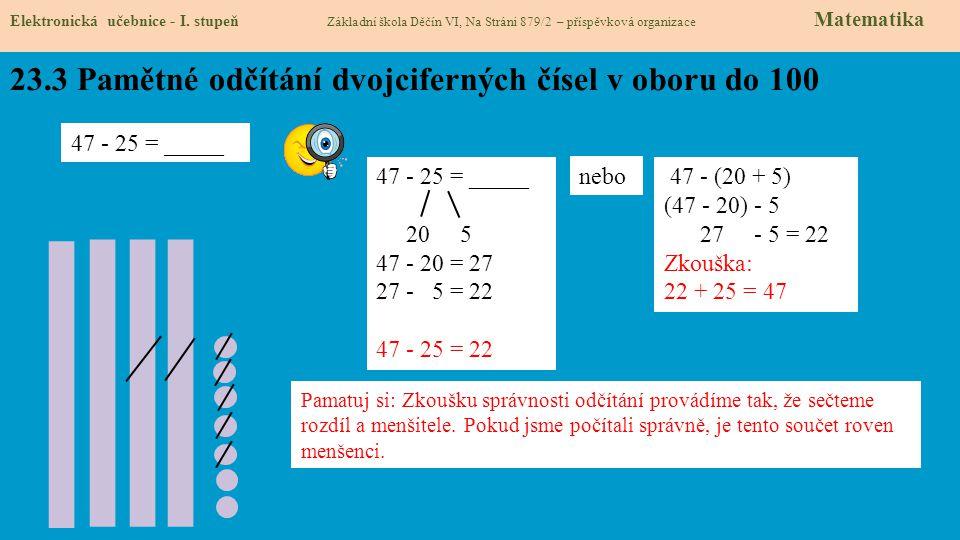 23.4 Co si budeme pamatovat Elektronická učebnice - I.