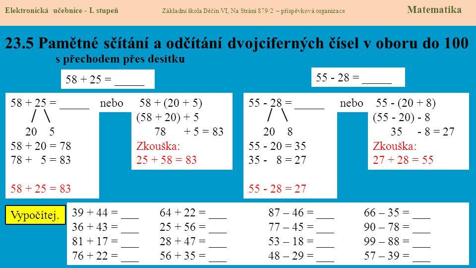 23.6 Procvičení a příklady Elektronická učebnice - I.