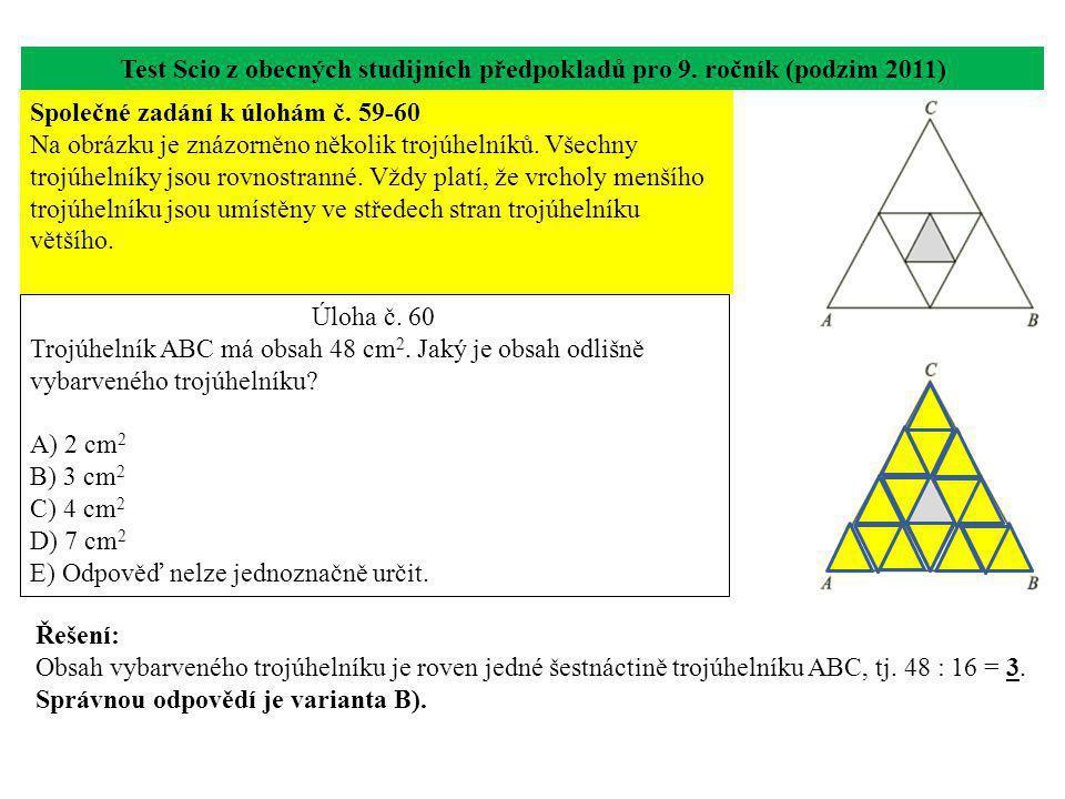 Test Scio z obecných studijních předpokladů pro 9.