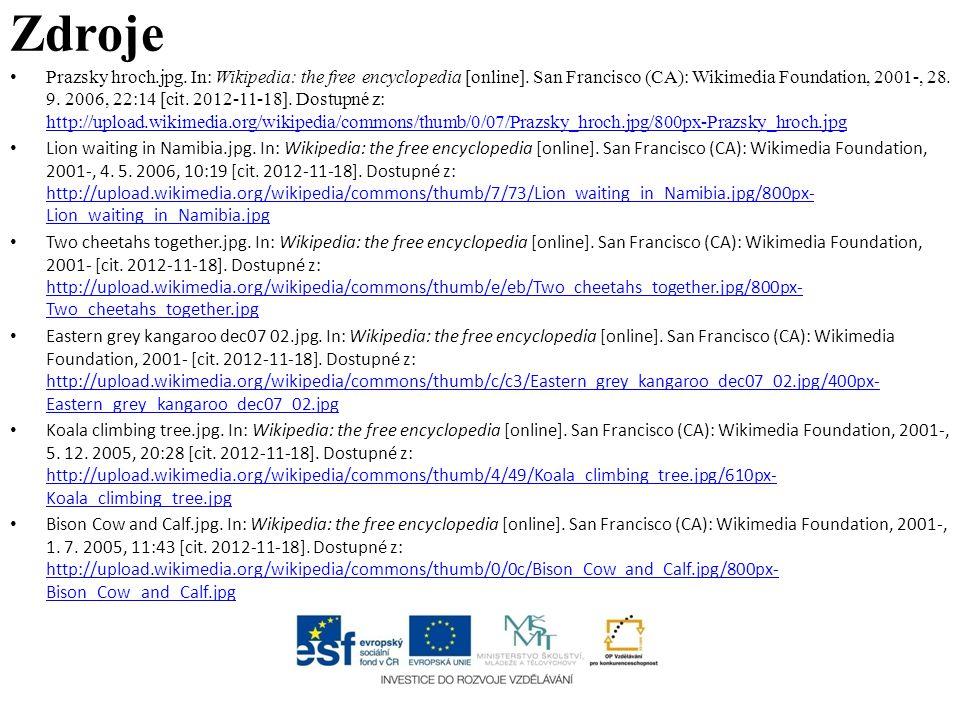 Zdroje Prazsky hroch.jpg. In: Wikipedia: the free encyclopedia [online]. San Francisco (CA): Wikimedia Foundation, 2001-, 28. 9. 2006, 22:14 [cit. 201