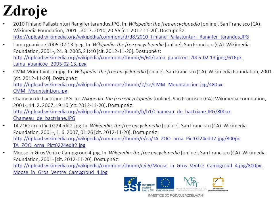 Zdroje 2010 Finland Pallastunturi Rangifer tarandus.JPG. In: Wikipedia: the free encyclopedia [online]. San Francisco (CA): Wikimedia Foundation, 2001