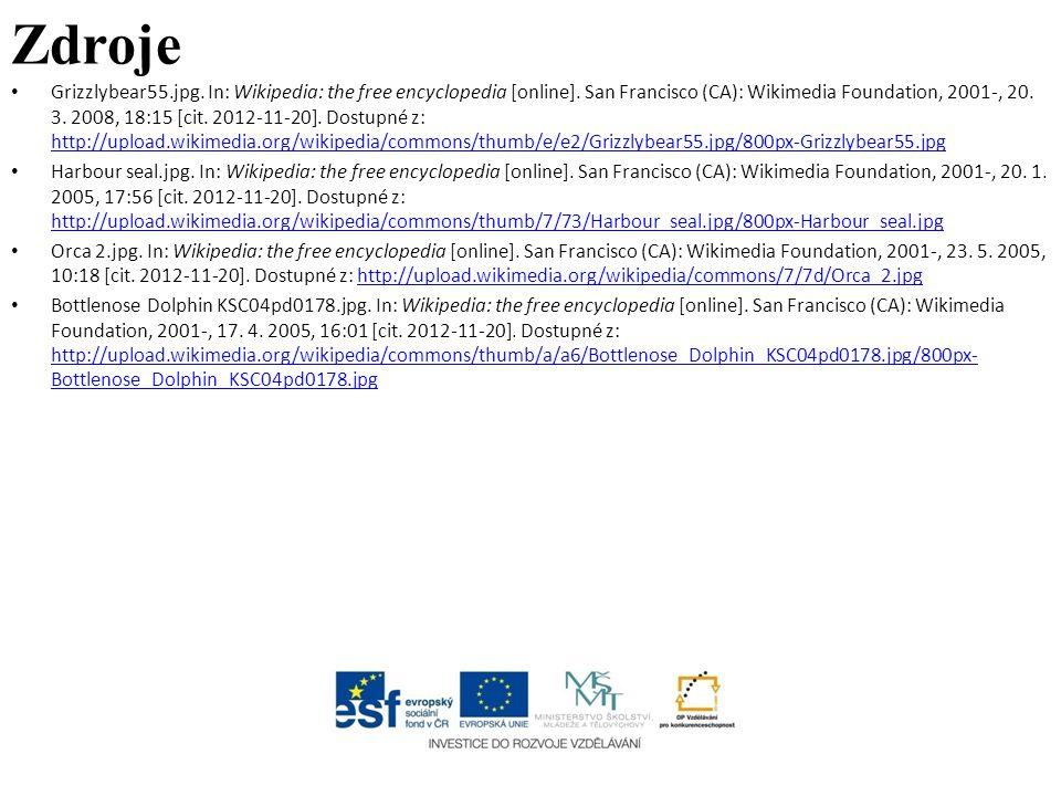 Zdroje Grizzlybear55.jpg. In: Wikipedia: the free encyclopedia [online]. San Francisco (CA): Wikimedia Foundation, 2001-, 20. 3. 2008, 18:15 [cit. 201