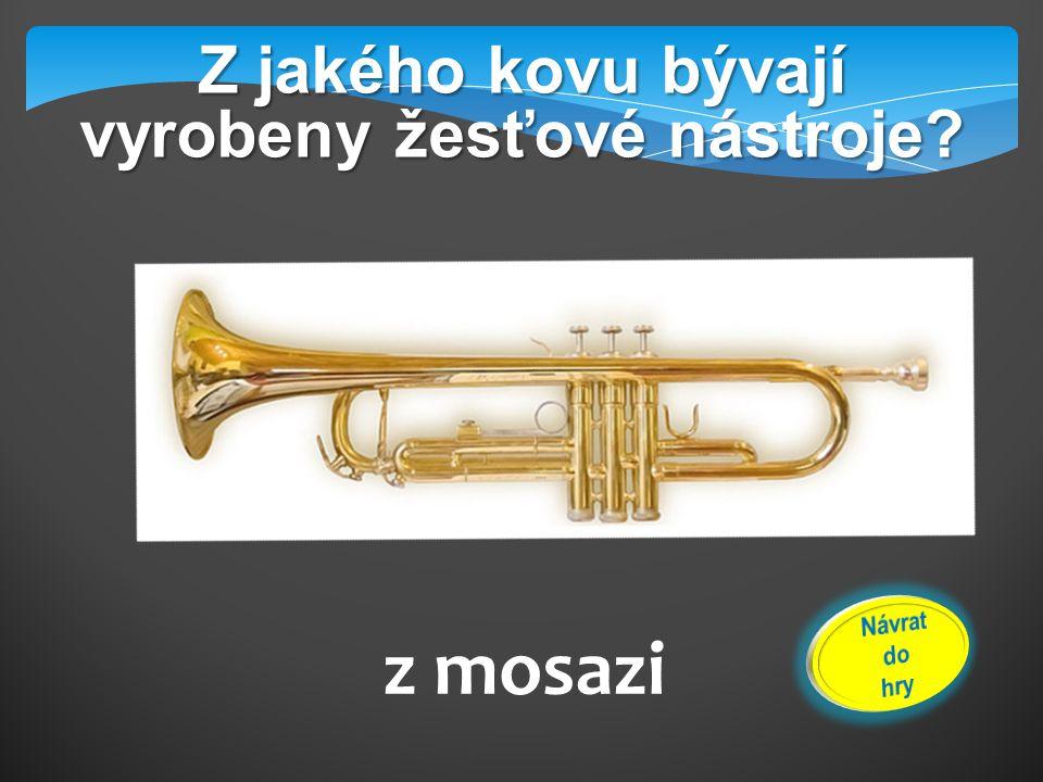 Jmenuj žesťové nástroje symfonického orchestru. Trubka, pozoun, lesní roh, tuba