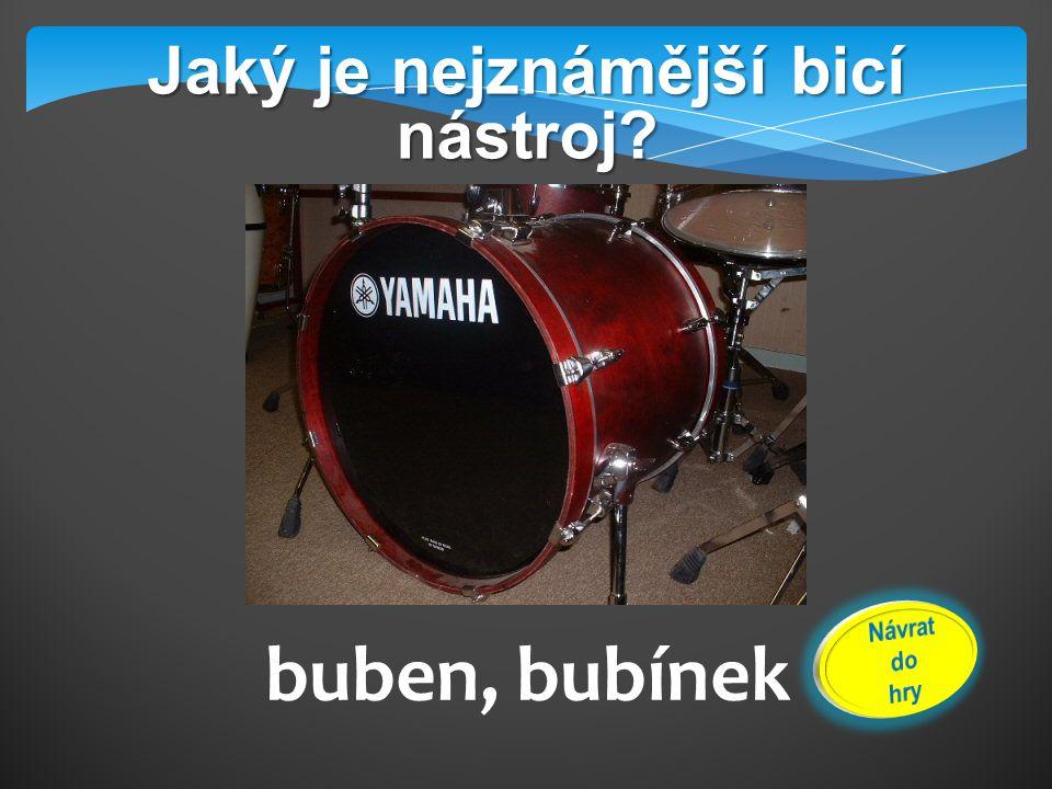 Jak rozezníváme bicí nástroje? úderem