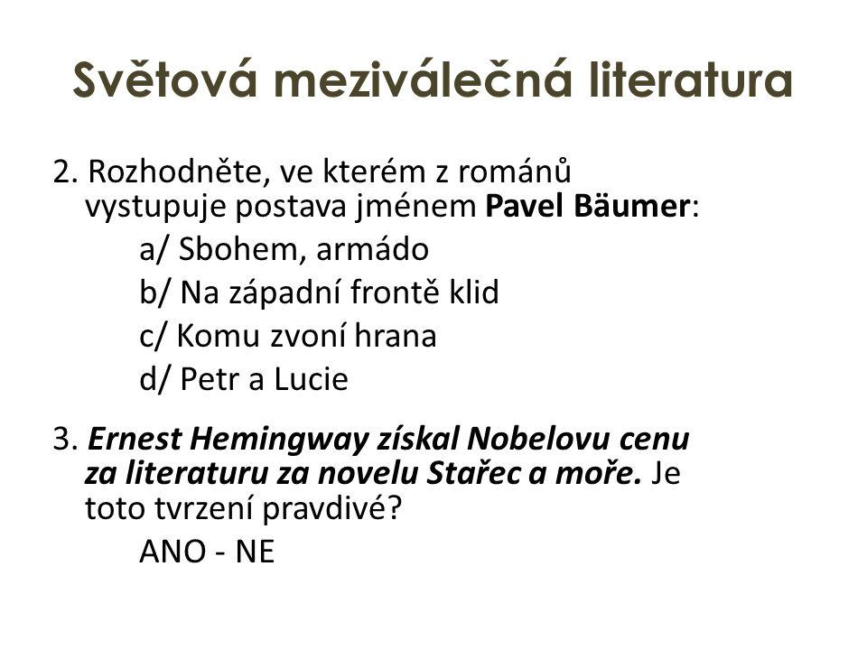 Světová meziválečná literatura 2.