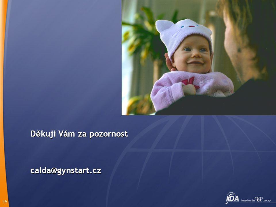 19 Děkuji Vám za pozornost calda@gynstart.cz