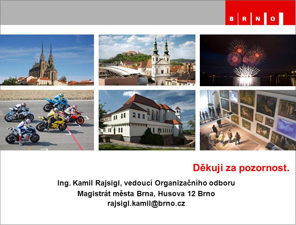 Děkuji za pozornost. Ing. Kamil Rajsigl, vedoucí Organizačního odboru Magistrát města Brna, Husova 12 Brno rajsigl.kamil@brno.cz