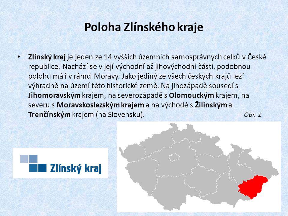 Poloha Zlínského kraje Zlínský kraj je jeden ze 14 vyšších územních samosprávných celků v České republice.