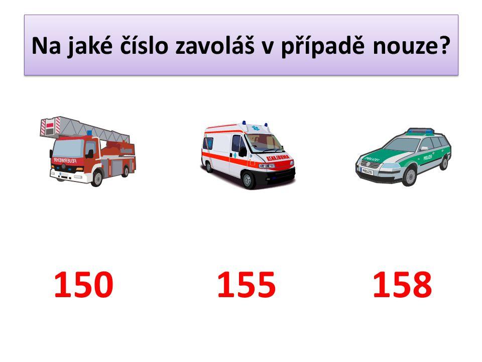 Na jaké číslo zavoláš v případě nouze? 150155158
