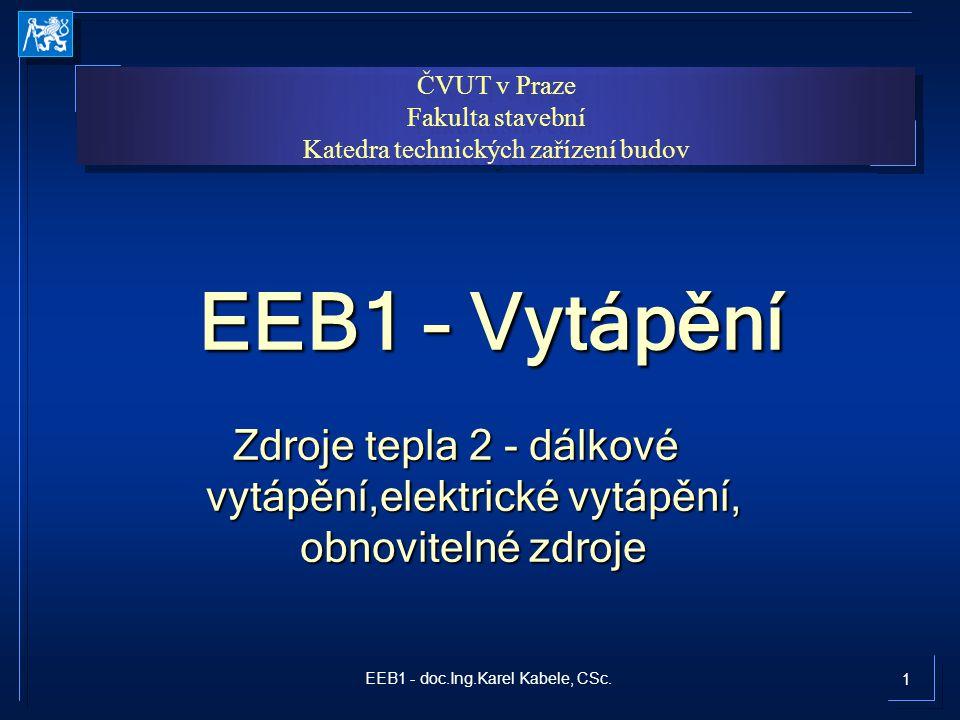 32EEB1 - doc.Ing.Karel Kabele, CSc. Palivový článek ve vytápění