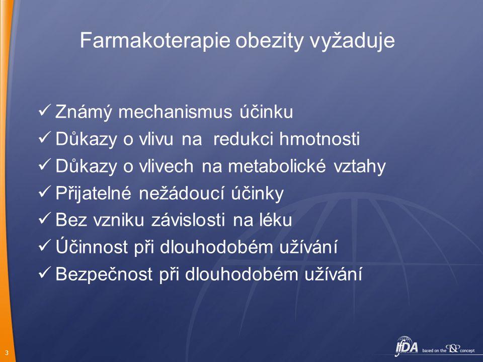 4 Farmakoterapie obezity RELEASING AGENTS REUPTAKE INHIBITORS NADA5-HTNA Dexamphetamine  Phentermine  Fenfluramine   Dexfenfluramine   ADP 356 – * selective 5-HT (2C) agonist  * Fluoxetine  Sibutramine  Duloxetine  Milnacipran  Venlafaxine  Atomoxetine  Reboxetine 