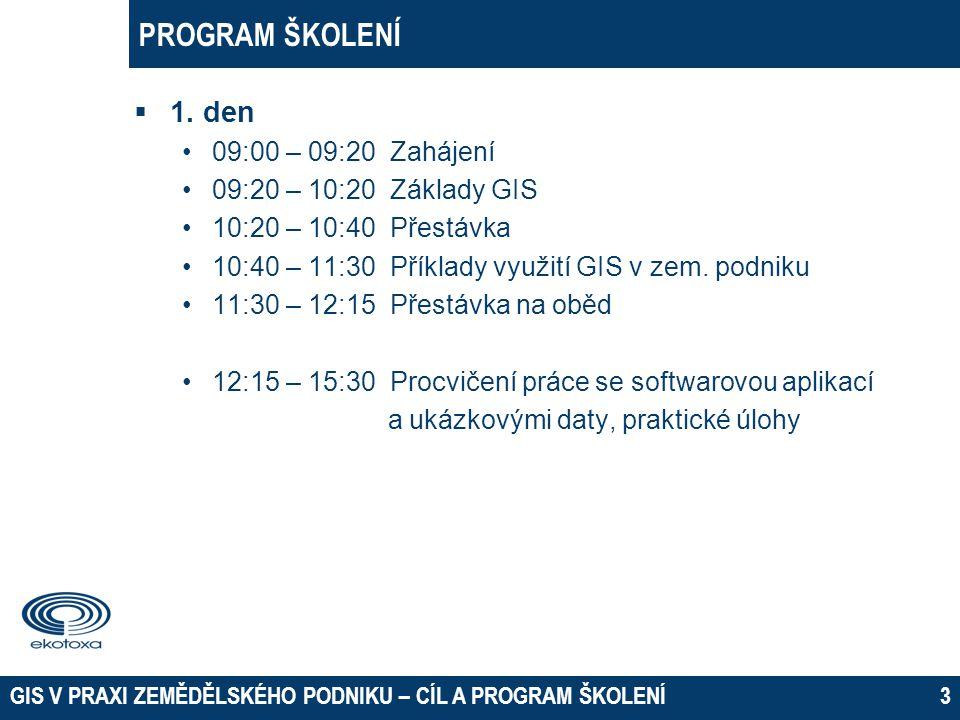 PROGRAM ŠKOLENÍ  1.