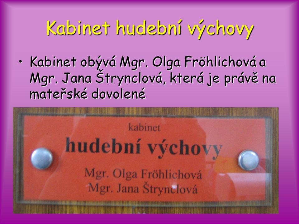 Kabinet hudební výchovy Kabinet obývá Mgr. Olga Fröhlichová a Mgr.