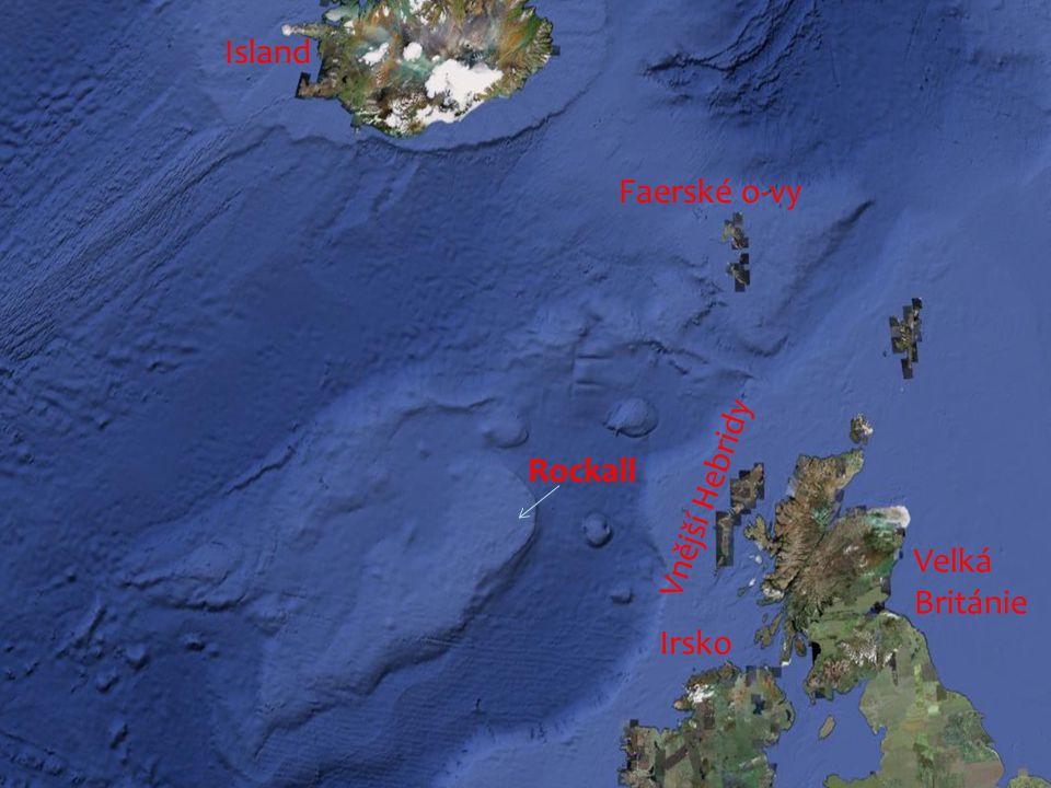 Faerské o-vy Vnější Hebridy Irsko Rockall Island Velká Británie