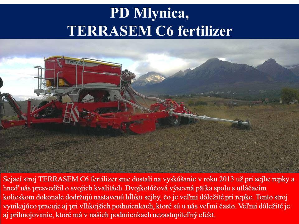 Sejací stroj TERRASEM C6 fertilizer sme dostali na vyskúšanie v roku 2013 už pri sejbe repky a hneď nás presvedčil o svojich kvalitách. Dvojkotúčová v