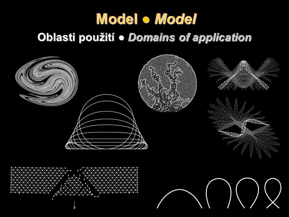 Model ● Model Oblasti použití ● Domains of application