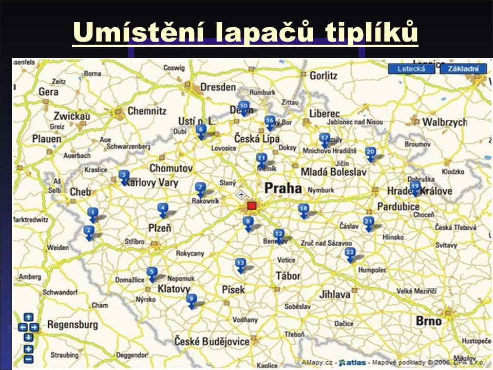 STÁTNÍ VETERINÁRNÍ SPRÁVA ČESKÉ REPUBLIKY Bluetongue 2008 barevně označeny čtverce v uzavřeném pásmu