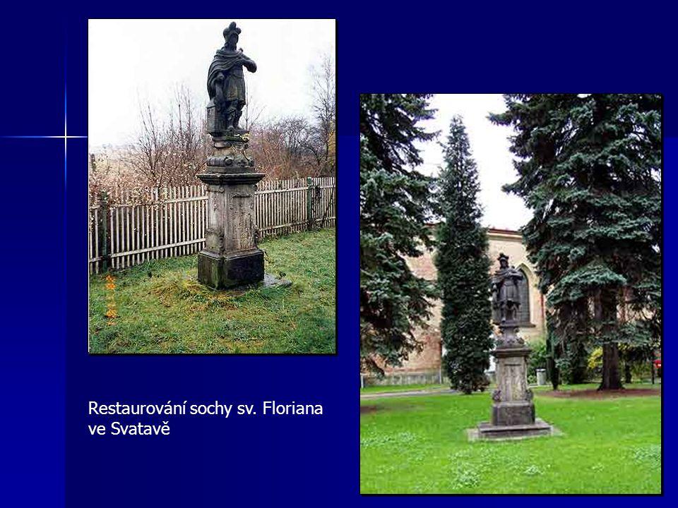 Restaurování sochy sv. Floriana ve Svatavě