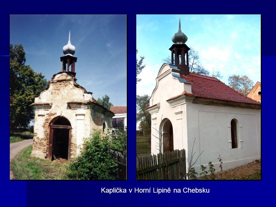 Kaplička v Horní Lipině na Chebsku