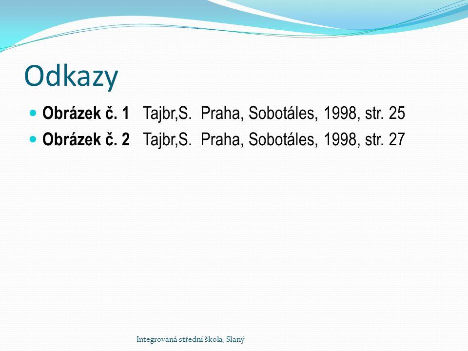 Odkazy Obrázek č. 1 Tajbr,S. Praha, Sobotáles, 1998, str. 25 Obrázek č. 2 Tajbr,S. Praha, Sobotáles, 1998, str. 27 Integrovaná střední škola, Slaný