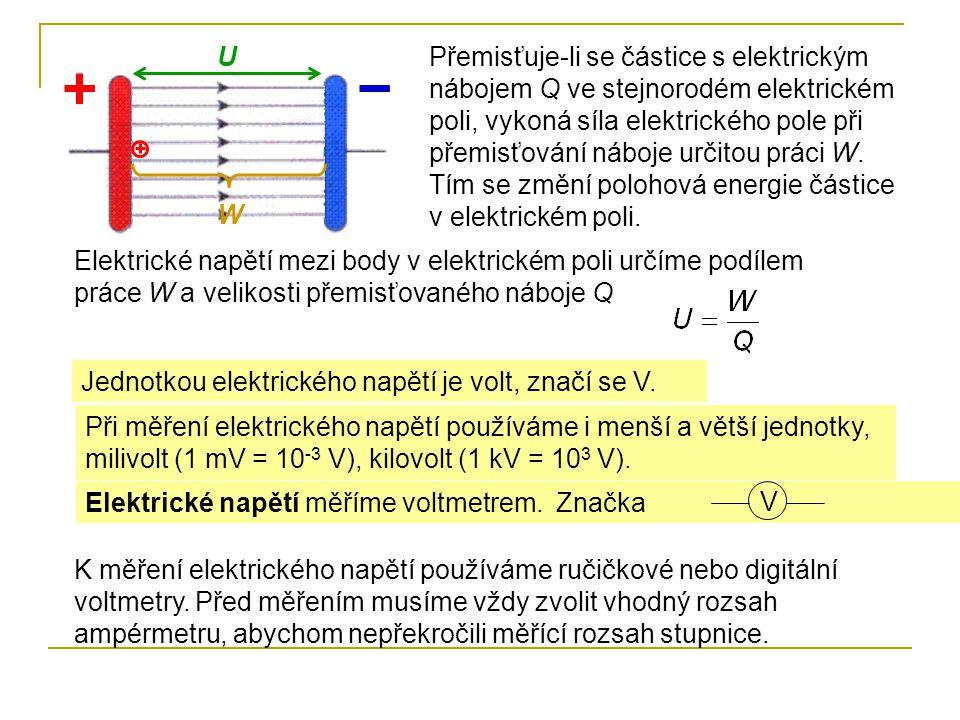Při měření ručičkovým voltmetrem zjistíme nejprve rozsah stupnice a hodnotu nejmenšího dílku.