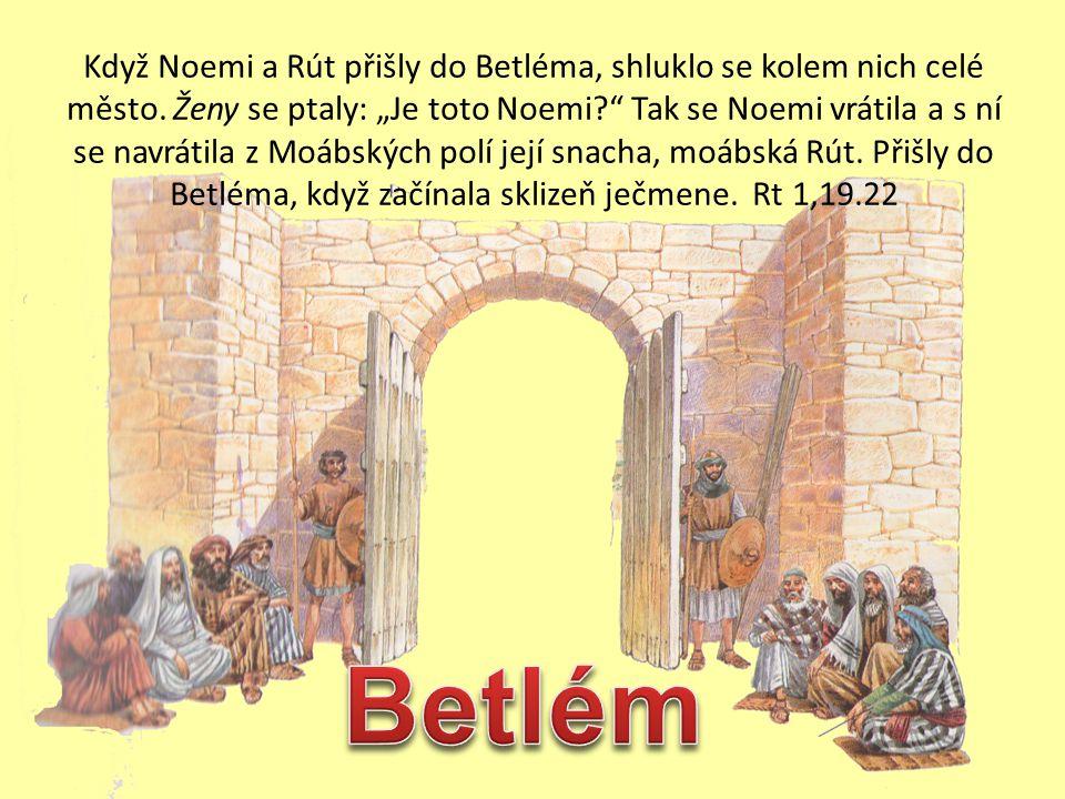 7. Hospodin odměňuje Rút a Noemi