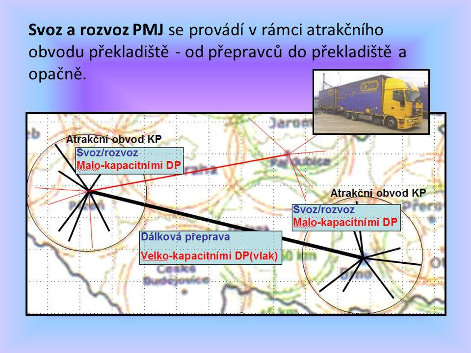 Svoz a rozvoz PMJ se provádí v rámci atrakčního obvodu překladiště - od přepravců do překladiště a opačně.