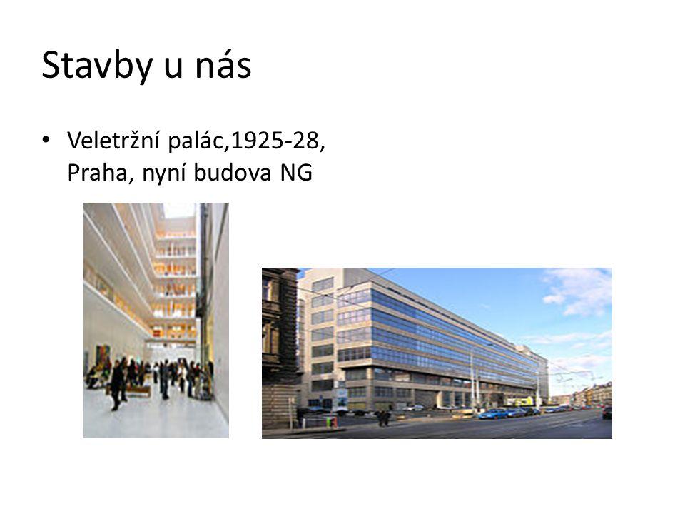 Stavby u nás Veletržní palác,1925-28, Praha, nyní budova NG