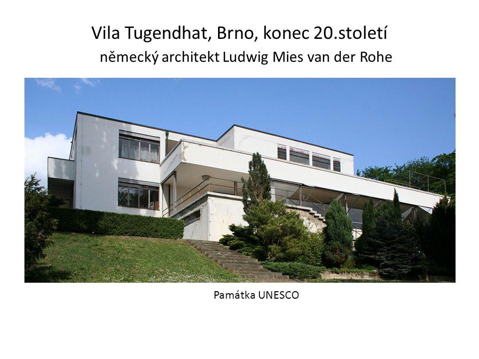 Vila Tugendhat, Brno, konec 20.století německý architekt Ludwig Mies van der Rohe Památka UNESCO