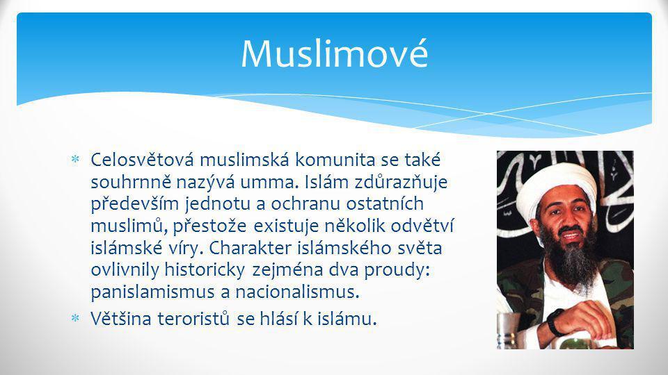  Celosvětová muslimská komunita se také souhrnně nazývá umma. Islám zdůrazňuje především jednotu a ochranu ostatních muslimů, přestože existuje někol