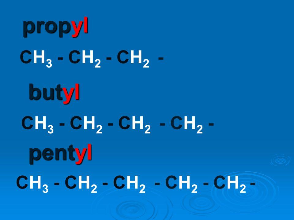C H H H ethyl H C H CH 3 - CH 2 -