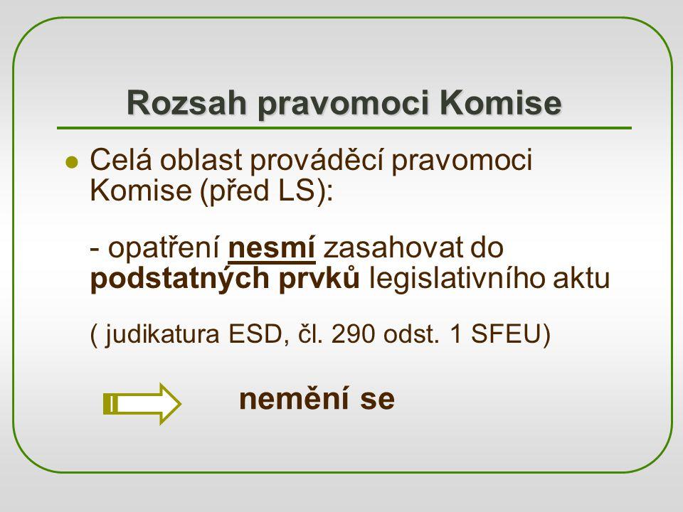 """Koncepce """"nové komitologie (1) """"implementation (čl."""