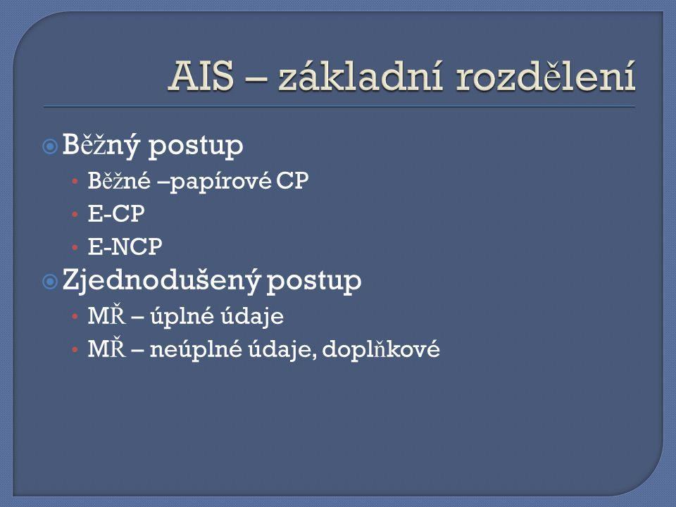 Dv ě varianty: D_N_PODD E-Dovoz (AIS) MRN D_N_DOK MRN + pol + typ E-Dovoz (AIS) D_N_PODD D_N_DOK E-Dovoz (AIS) ID Odst.