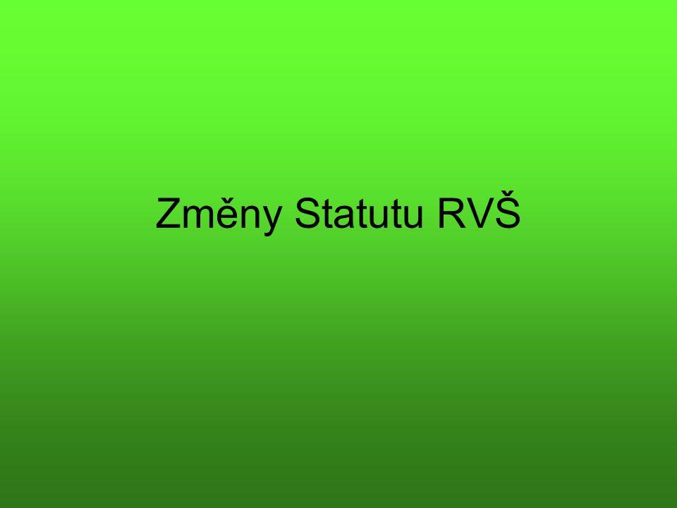 Změny Statutu RVŠ