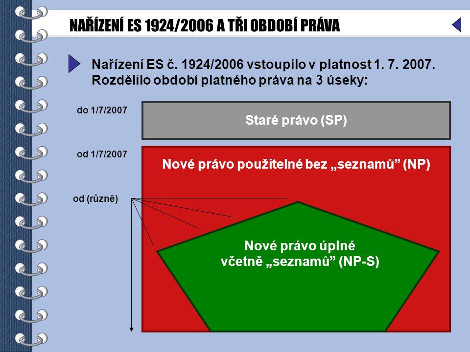6 Nařízení ES č.1924/2006 vstoupilo v platnost 1.