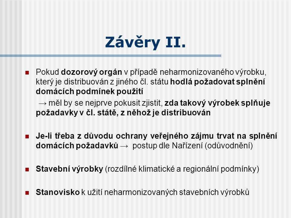 Závěry II.