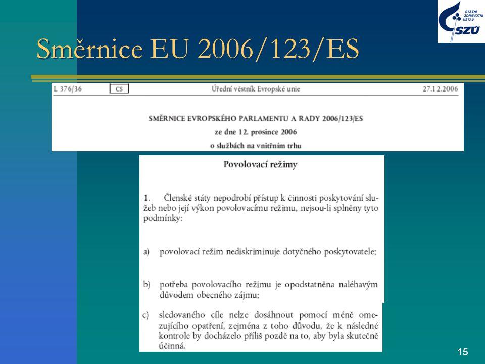 15 Směrnice EU 2006/123/ES